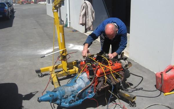Engine mechanical work by Marlborough Classic and Custom Restorations.