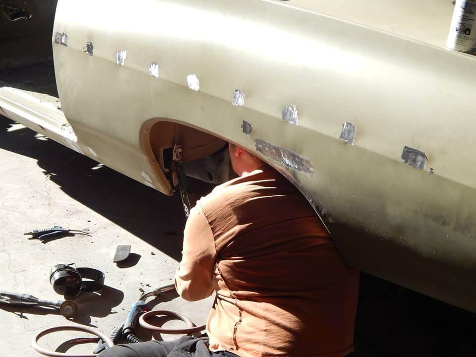 Vehicle welding by Marlborough Classic and Custom Restorations.