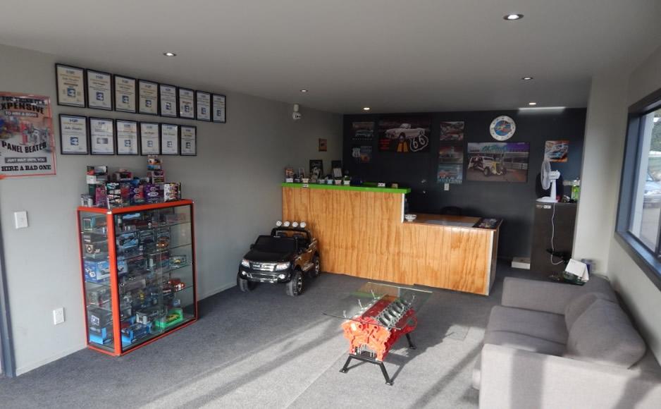 Reception Area At Marlborough Classic And Custom Restorations NZ